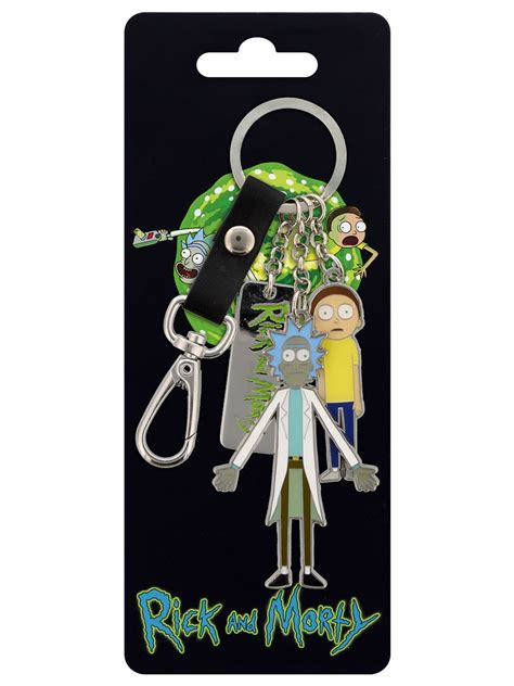 Rick And Morty Character Charms Metal Keychain - Buy
