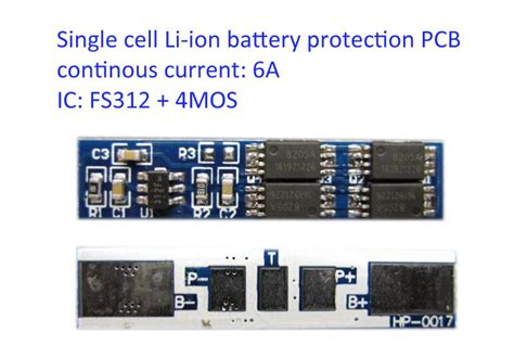 Single cell 6A Li-ion Lithium 18650 14450 Battery Input